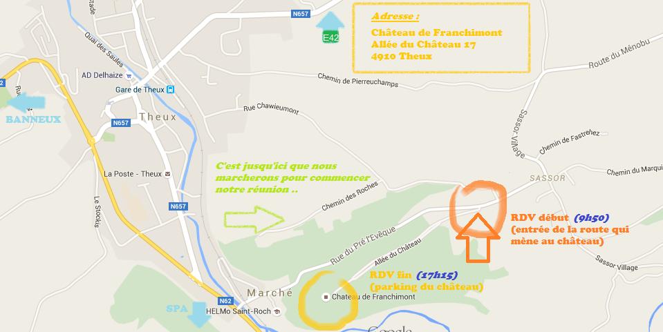 accès chateau de Franchimont